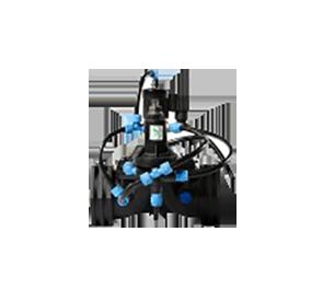2,4 M 7//10 mm Wetec colocado con botón a presión azul verdoso ESD